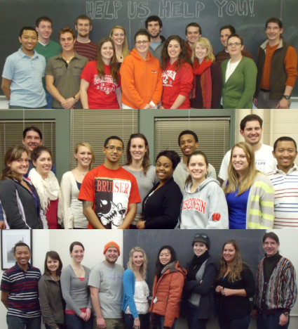 Pictures of students from all of the three capstone groups