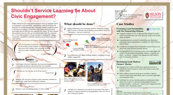 Shouldn't Service Learning be About Civic Engagement?